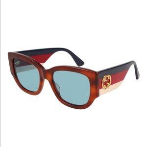 Gucci ModelGG0276S 003 Sunglasses Light Blue Lens